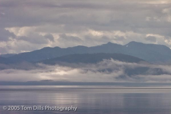 Fog Rising from the Bay, Glacier Bay National Park and Preserve, Alaska