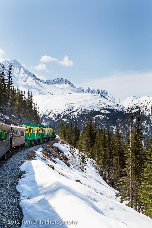 Aboard the White Pass & Yukon Railway in Skagway, Alaska