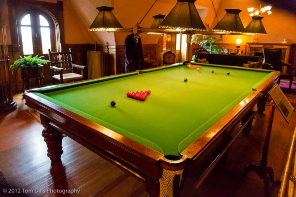 Huge pool table at Craigdarroch Castle in Victoria, British Columbia