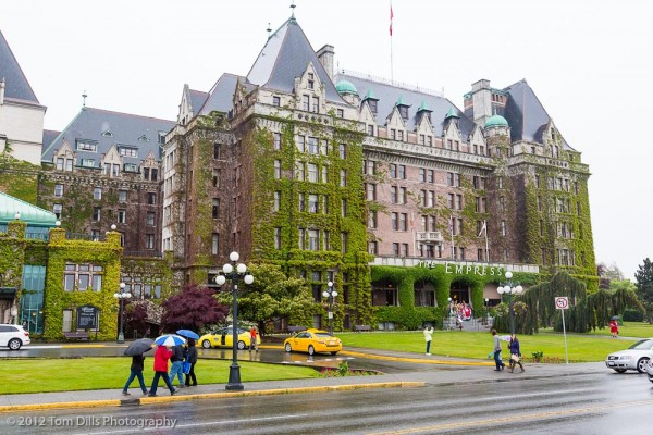 The Fairmont Empress Hotel in Victoria, British Columbia