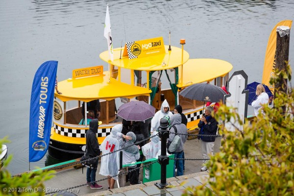 A wet day for a water taxi ride, Victoria, British Columbia