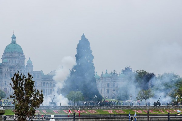 Victoria Day celebration complete with a 21-gun salute.  Victoria, British Columbia