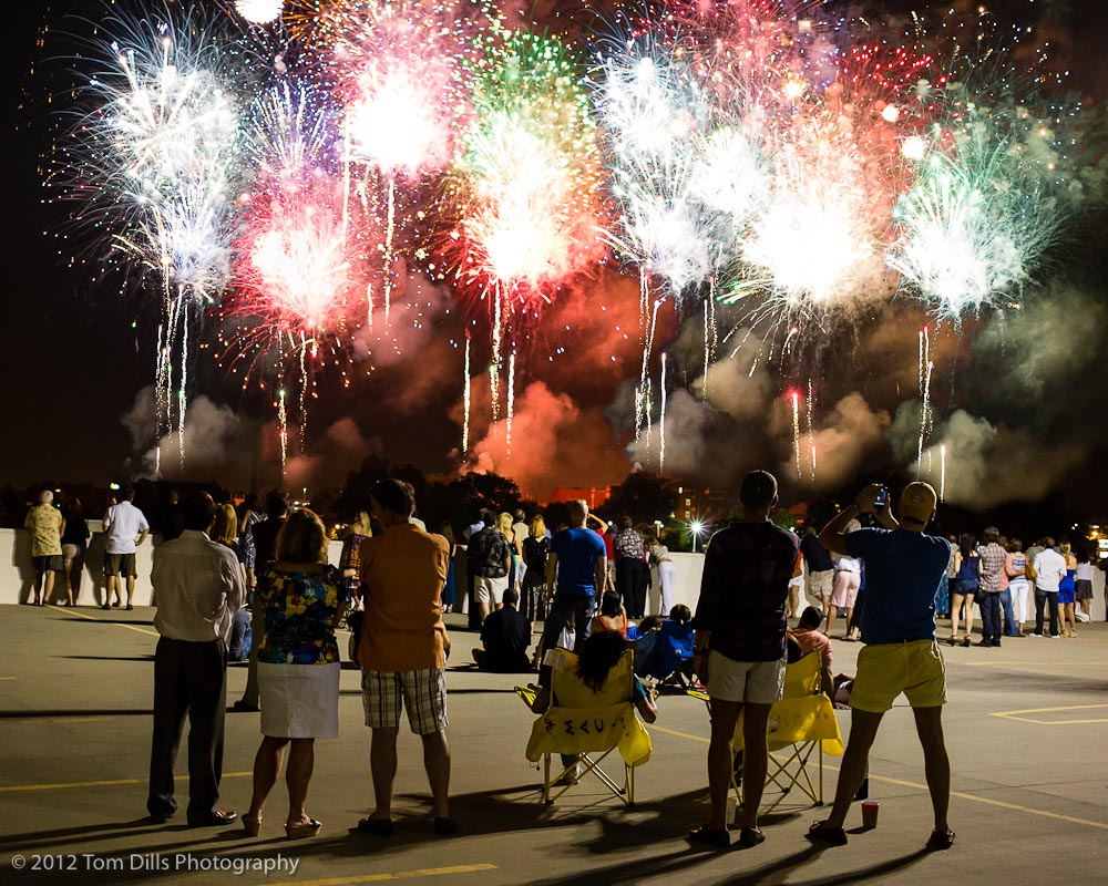 4th of July Fireworks with Dressler&#039;s Metropolitan, July 4, 2012.  Photoshop composite of 8 separate photos combined for artistic effect.