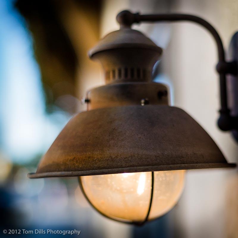 Light Fixture In Downtown Waynesville, North Carolina