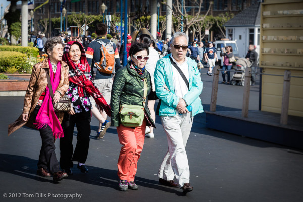 Colorful Tourists, Fisherman's Wharf
