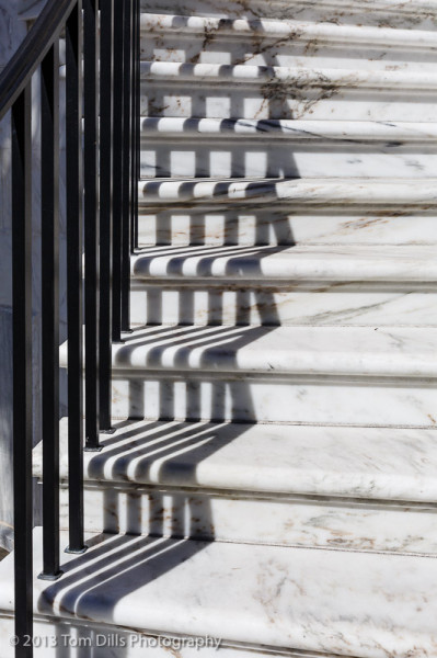 Stairs and shadows, Charleston, South Carolina
