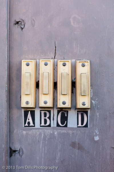 A B C D - Door bells, Charleston, South Carolina
