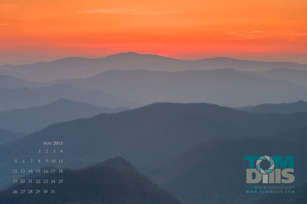 Sunset from Waterrock Knob, Blue Ridge Parkway, NC