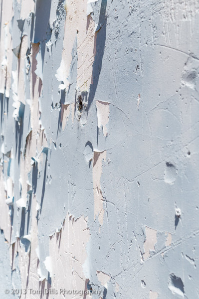 Peeling paint on a building in Washington, North Carolina