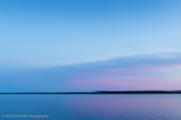 Motion blur at sunset in Belhaven, North Carolina