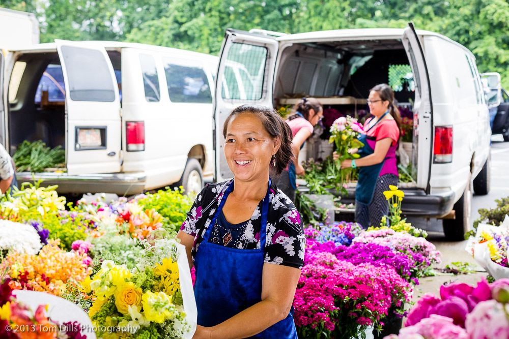 Flower Vendors at the Charlotte Regional Farmer's Market in Charlotte, NC