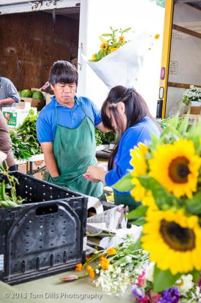 Flower Vendors at the Charlotte Regional Farmer's Market in Charlotte, NC
