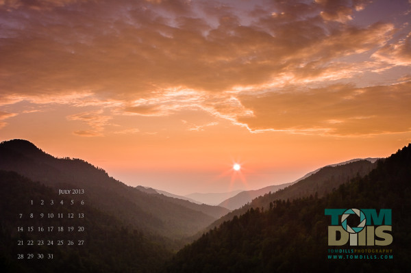 Sunset from Morton Overlook, Great Smoky Mountains National Park, TN