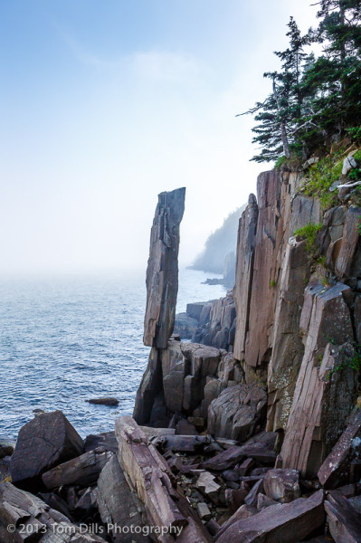 Balancing Rock, on Long Island near Tiverton, Nova Scotia