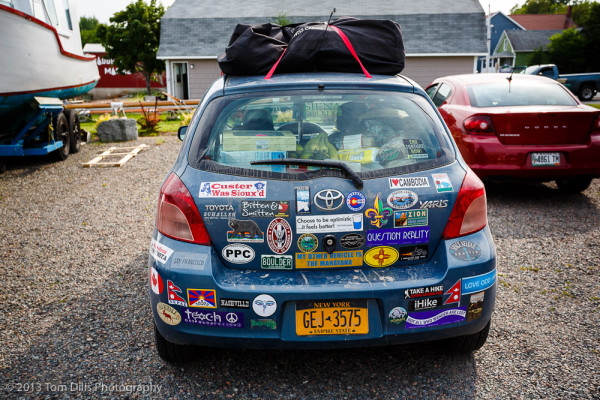 This Guy Needs More Bumper Stickers, Baddeck, Nova Scotia