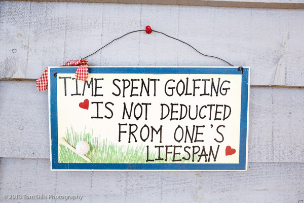 "I would change ""golfing"" to photographing, but that's just me."