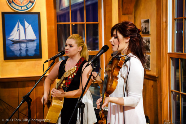 Cassie & Maggie, Celtic duo performing in Lunenburg, Nova Scotia