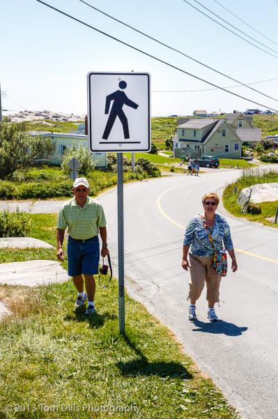 Pedestrians, Peggy's Cove, Nova Scotia