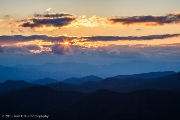 Sunset at Cowee Mountains Overlook, Blue Ridge Parkway MP 430