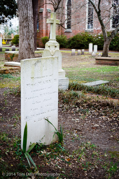 Graveyard at St Peter's Episcopal Church in Washington, North Carolina