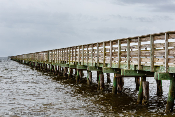 Bell Island Pier at Swan Quarter National Wildlife Refuge near Swan Quarter, North Carolina