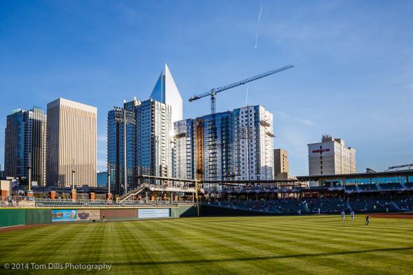 Charlotte Knights baseball game at BB&T Ballpark in Charlotte, NC