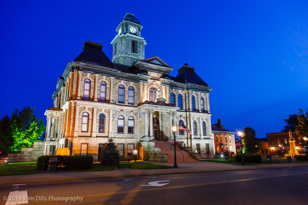 Holmes County Courthouse in Millersburg, Ohio