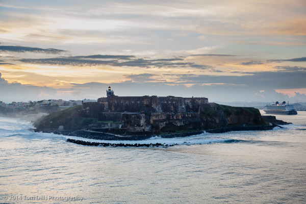 Passing Castillo San Felipe del Morro on our approach to San Juan Puerto Rico during our December 2014 cruise aboard Celebrity Silhouette