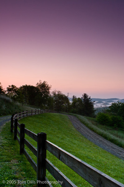 Sunrise at Cone Manor, Julian Price Memorial Park, Blue Ridge Parkway near Boone, North Carolina