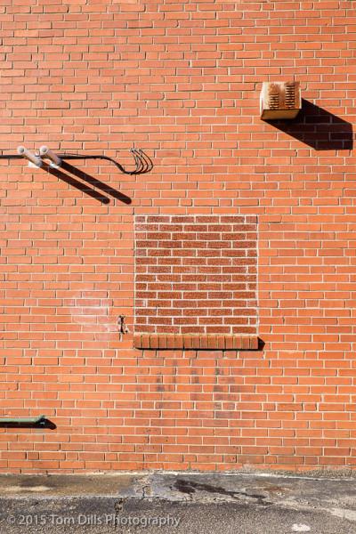 Brick wall, Marion, NC
