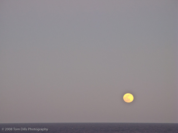 Full moon rising at sea, aboard Celebrity Solstice