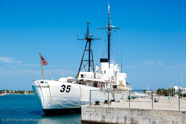 US Coast Guard Cutter Ingham on display at the Maritime Museum in Key West, Florida
