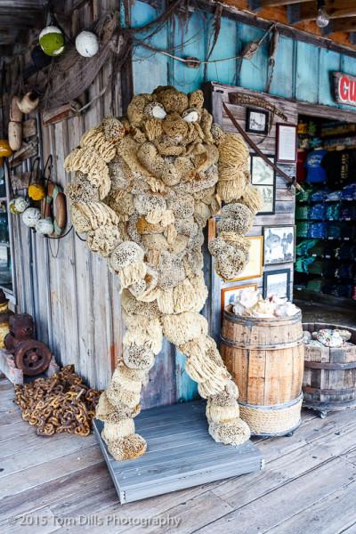 The original Sponge Bob, around the marina at Key West Bight, Key West, Florida