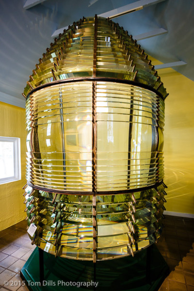 Fresnel lens at the Key West Lighthouse, Key West, Florida