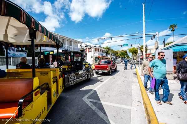 The Conch Tour Train in Key West, Florida
