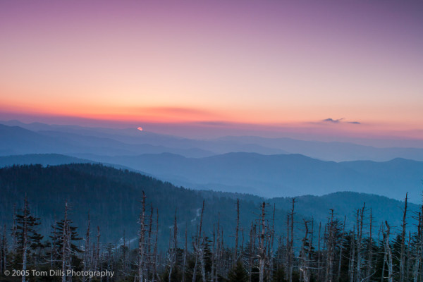 Sunrise from Clingmans Dome, Great Smoky Mountains National Park, NC