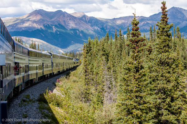 Alaska Railroad from Anchorage to Denali National Park, Alaska