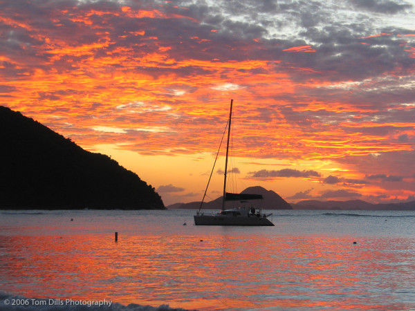 Sunset, Cane Garden Bay, Tortola, British Virgin Islands