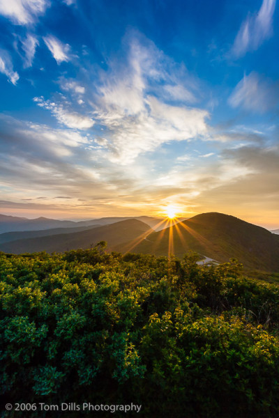Sunrise from Craggy Pinnacle, Blue Ridge Parkway NC