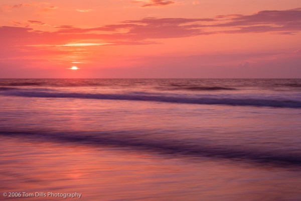 Sunrise on the beach, Litchfield Beach, SC