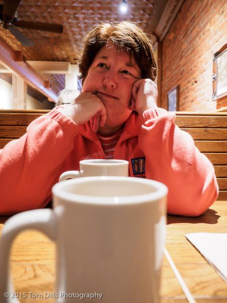 A quiet breakfast at City Bakery in Waynesville, North Carolina