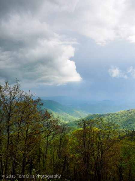 Storm clouds along the Blue Ridge Parkway near Mount Mitchell State Park, North Carolina