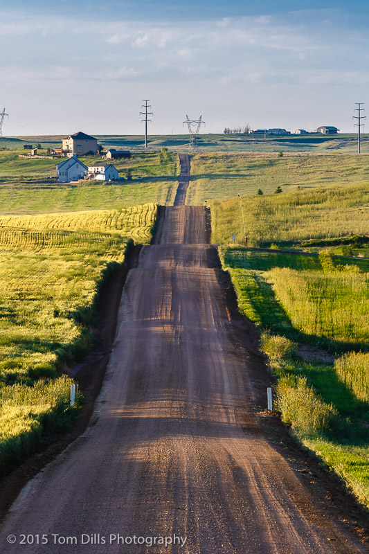 County Road 94 somewhere in rural Colorado north of Fort Collins