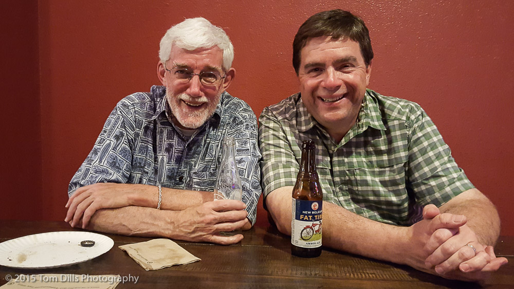 Tom & Monte Stevens at Slyce Pizza in Fort Collins, Colorado