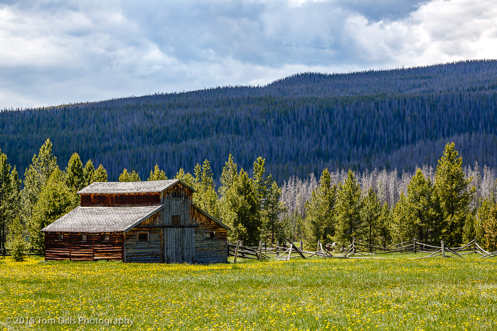 Barn along Trail Ridge Road in Rocky Mountains National Park