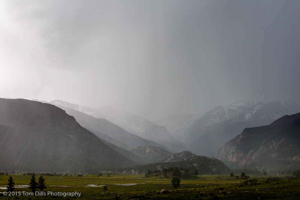 Approaching storm, Rocky Mountains National Park