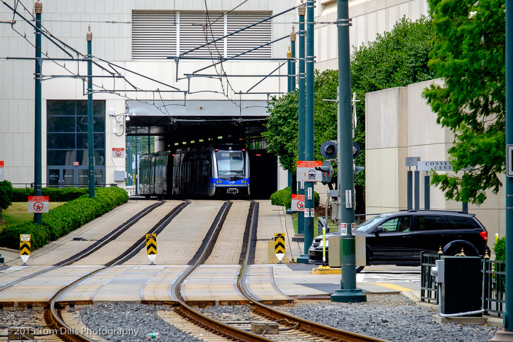 Lynx Blue Line light rail at the Charlotte Convention Center