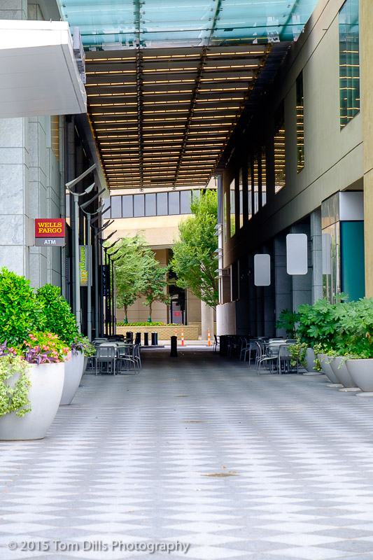 Walkway between the Mint Museum of Art and the Duke Energy Center