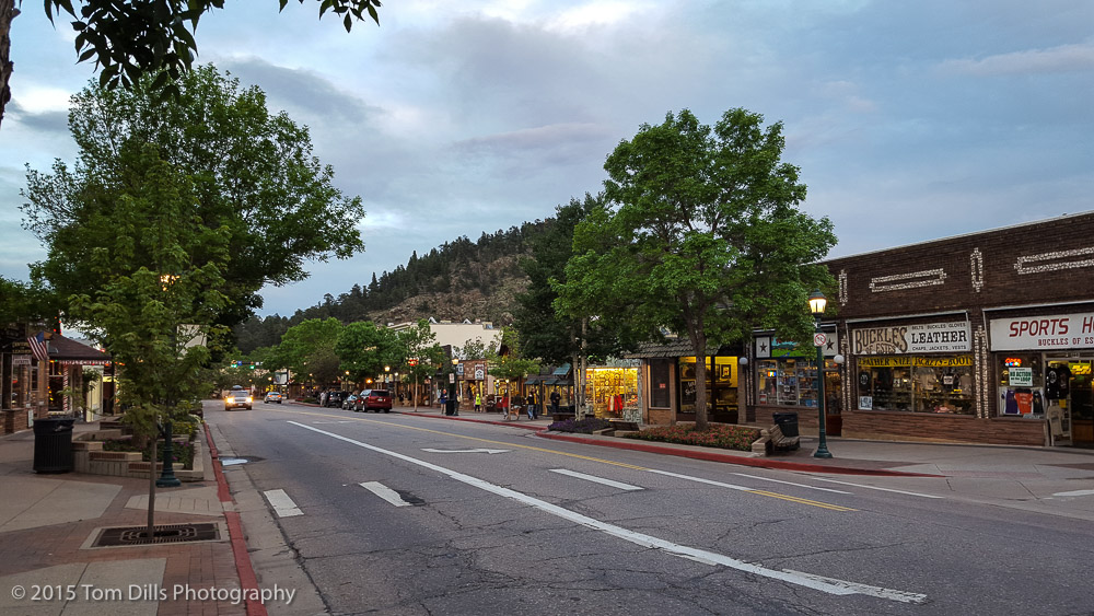 Random photos in downtown Estes Park, Colorado