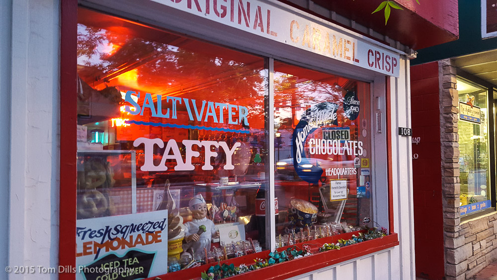 One of a number of taffy shops in downtown Estes Park, Colorado